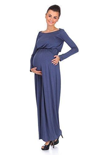 hi!mom - Robe spécial grossesse - Manches Longues - Femme Bleu Bleu marine Gris - Graphite