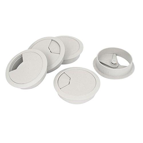 Passe-câble en plastique pour Bureau Rangement de câble de diamètre de perçage 80 mm-lot de 5
