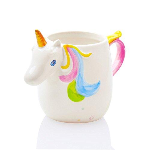 Kyonne Unicorn Mug, 3D Unicornio Taza, Taza del Regalo para Las Muchachas y Las Mujeres