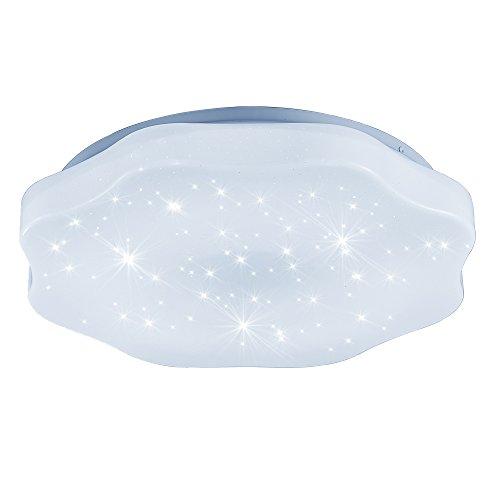 Eisen Bad Lampe (36W Kaltweiß Blütenform Sternenlicht Deckenleuchte Φ400*70mm modern Lampe Wohnzimmer Deckenbeleuchtung Starlight Effekt Design LED Deckenleuchte (36W Kaltweiß))