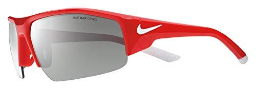 Nike Herren Skylon Ace Xv Ev0857 Sonnenbrille, Silber (NvrstyRd/WhW/GrySlL), 75