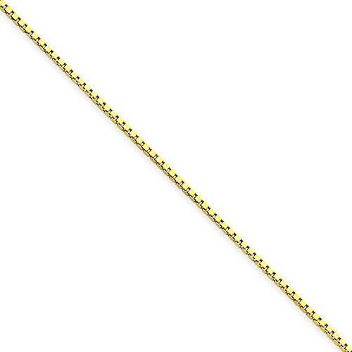 Or 14ct 1.0mm Boîte chaîne bracelet-Fermoir-Longueur Options: 18-20