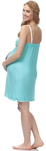 Be Mammy Damen Stillnachthemd BE20-141 Türkis