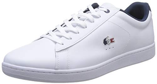 Lacoste Carnaby Evo 119 7 SMA, Scarpe da Ginnastica Uomo, Bianco/Navy/Red