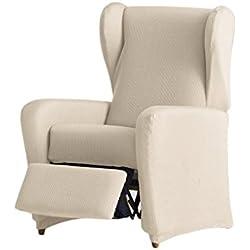 Eysa Ulises, Funda Elástica para sillón Relax C/11, Crudo, 60-90 cm
