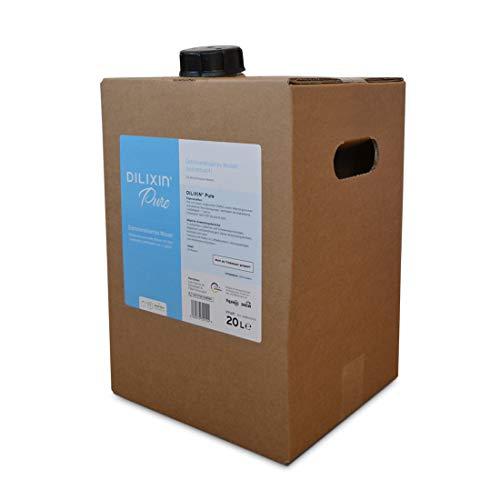 DILIXIN® Pure, entmineralisiertes Wasser durch Osmose, 20 Liter in umweltfreundlicher Bag In Box, VE Wasser für Luftbefeuchter, destilliertes und reines Wasser