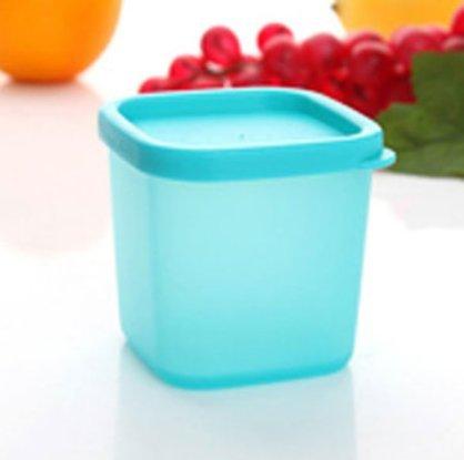 INOVEY 230 Ml Aufbewahrungsbox Küche Lebensmittel Schmuck Haar Krawatte Kosmetik Halter Multifunktionale Organizer Fall - Blau (Pastell-aufbewahrungsbox)