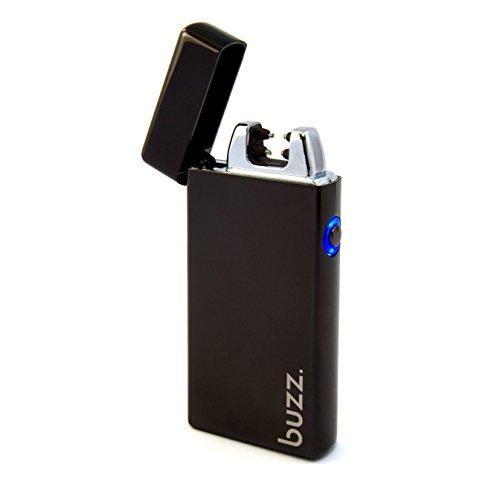 Buzz. USB Feuerzeug - Elektrofeuerzeug - Lichtbogen Feuerzeug aufladbar - elektrisch aufladbar mit Akku - Laser, Tesla Lighter, Batterie, schwarz