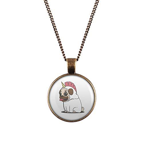 Mylery Hals-Kette mit Motiv Mops Hund Pug