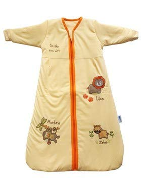 Slumbersac – Saco de dormir de manga larga para niños (3 a 6 años, 2,5 Tog, Zoológico Sunshine)