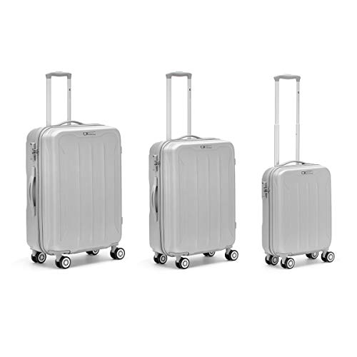 R Roncato Flight Set da 3 Trolley 76 cm, Argento