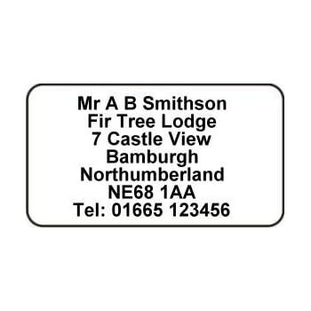 500 xxion personalised mini self adhesive address labels size