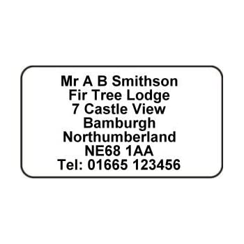 Xxion Personalised Mini SelfAdhesive Address Labels Size
