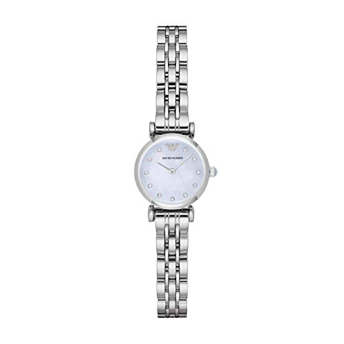Emporio Armani Womens Analogue Quartz Watch with Stainless Steel Strap AR1961