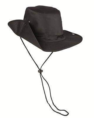 Buschhut m.Druckknopf schwarz von Mil-Tec - Outdoor Shop