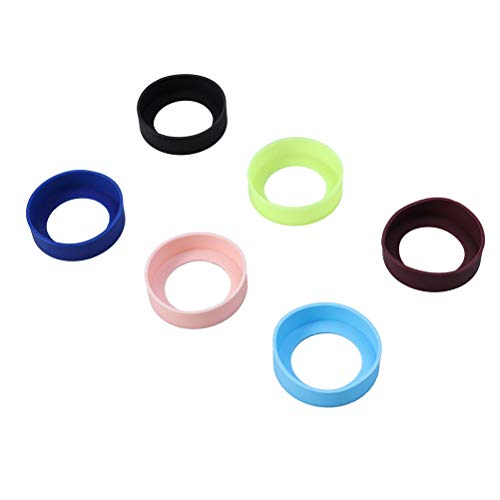 LIOOBO 6 stücke Silikon hitzebeständige Tasse Matte Flaschenhalter Isoliermatte Rutschfeste Tasse Becher Coaster 65mm Zufällige Farbe