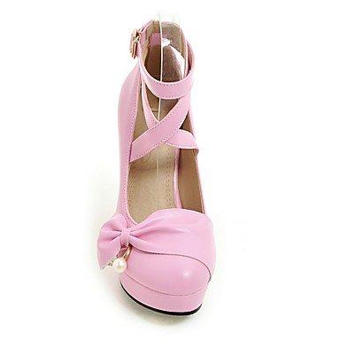 Talloni delle donne Primavera Estate Autunno Inverno Dress Altro similpelle ufficio & carriera Party & Sera tacco grosso BowknotBlack Rosa Viola Pink