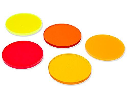 Lumenman Filter Set Light Painting - Klein: 5 Farbfilter, Acrylglas, 47mm Durchmesser für Lumenman Connector