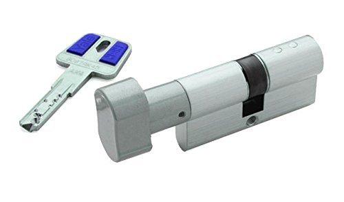 Yale HSKP3030NM4 Cilindro de Alta Seguridad con Botón, Niquelado, 30 x 30 mm