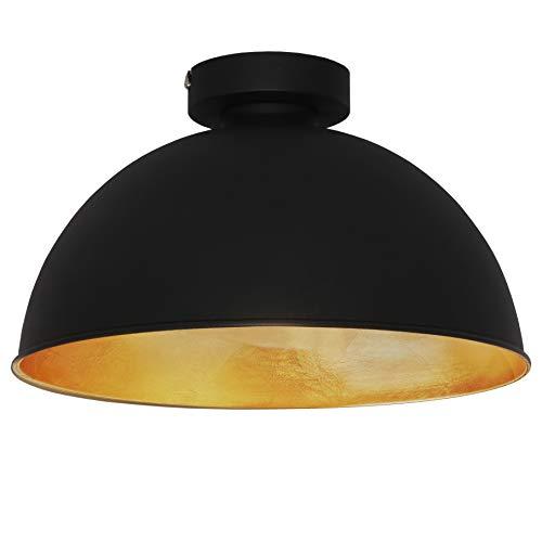 Deckenleuchte retro, Design Industrielle Vintage Deckenlampe Φ 30cm exkl. E27 Leuchtmittel, schwarz