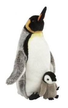 suma-collection-cuddly-plush-king-penguin-with-chick-soft-toy-35cm