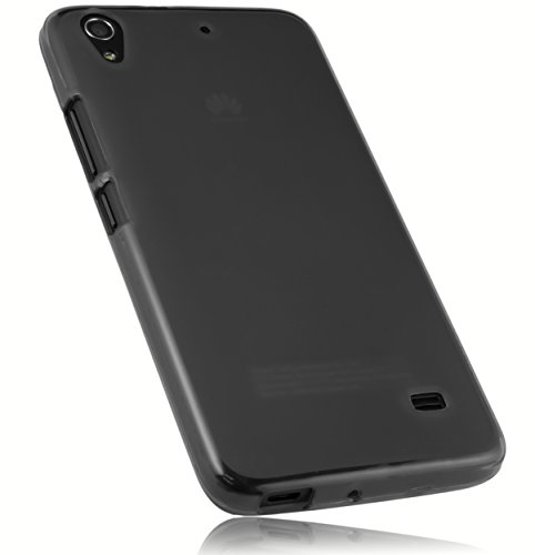 mumbi Schutzhülle für Huawei Ascend G620s Hülle transparent schwarz