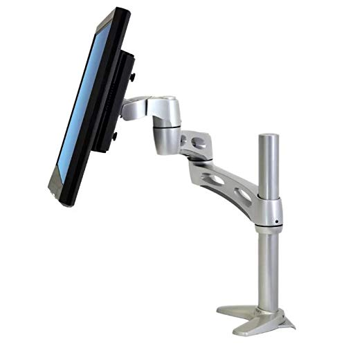 Ergotron 45-235-194 Neo-Flex Extend LCD Arm Monitor Klemme oder Schraube Tischhalterung (mit ausziehbar, neigbar, höhenverstellbar und drehbar für Hoch- und Querformat) Extend Lcd Arm