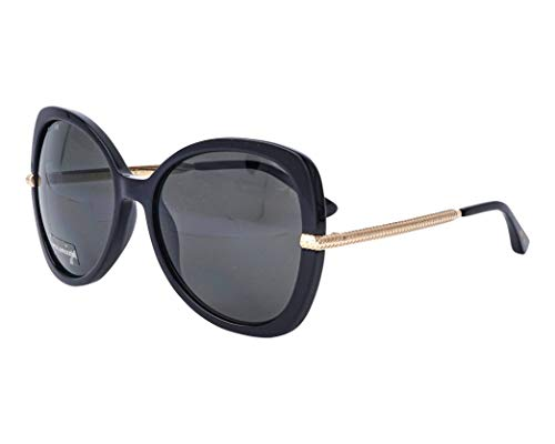 Jimmy Choo Sonnenbrillen (CRUZ-G-S 807M9) schwarz - gold - grau polarisierte