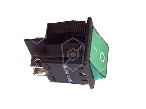 Interrupteur à bascule pour gärschrank, Four à Pizza, Electrolux ambach, Frifri, Cook Max 250 V 16 A 2 pôles 2 NO Dimensions d'encastrement I lumineux de 0 Vert 30 x 22 mm Connexion Cosses 6,3 mm