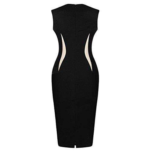 JOTHIN Slim Zip Mélangé Les Couleurs Mosaïque Fashion Sac Hanche Robe Noir