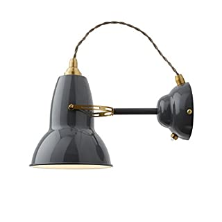 Anglepoise Original 1227 Brass Wall Light, Elephant Grey
