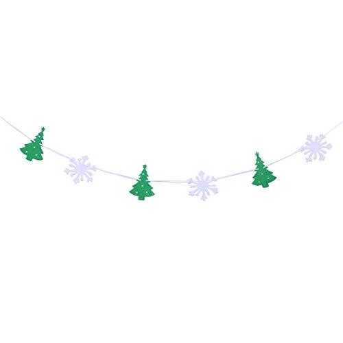 PRETYZOOM 3 mt Weihnachtsbaum Schneeflocke Banner vlies Bunting Flags Garland Dekorationen Für Weihnachten Garten Terrasse Decor
