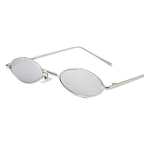 FZBK damen sonnenbrillenNeue sonnenbrillen_2019 new wave small box ovale metall retro brillen net rot mit street sonnenbrille menSilver frame mercury film