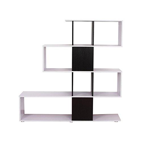Newsbenessere.com 31KoPAR8C9L Homcom – Libreria Scaffale per Libri Mobili Ufficio Scaffale in legno 145 x 30 x 145cm Bianco e Nero