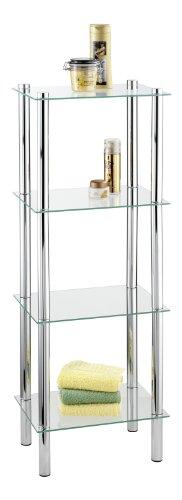 Opiniones wenko 15853100 yago estanteria cuadrada para ba o con 4 repisas 40 x 30 x 104 cm - Amazon estanterias bano ...