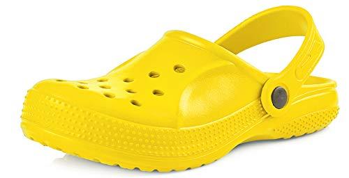 Ladeheid EVA Zuecos Clog Zapatos Unisexo Niños KL055 (Amarillo, 30)