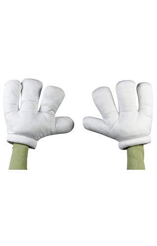 Cartoon Handschuhe XL weiß (Cartoon Handschuhe Kostüm)