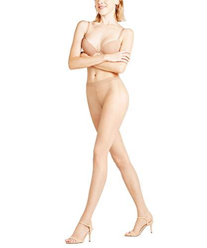 FALKE Damen zehenfreie Strumpfhosen Shelina 12 den Toeless - 1 Paar, Gr. S-M, braun, glänzend ultra-transparent