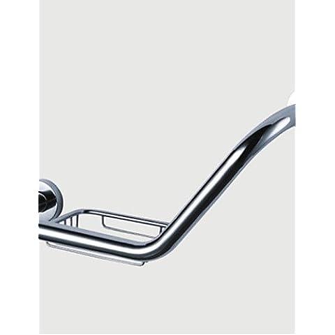 Latón cromado con jabón de barra de agarre Titular, L43cm x W12cm x H7.5cm