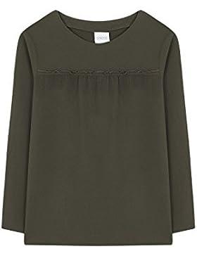 Gocco W75CBLCA411VA, Blusa para Niñas, Verde (Kaki), 152(Tamaño del Fabricante:11-12)