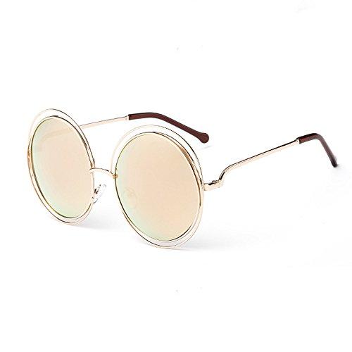 KUDICO Unisex Sonnenbrille John Lennon Round Gläser Vintage Polarisierte Linsen Metall Gestell Hippi Brille 400UV Outdoor Brillen (J, One Size)
