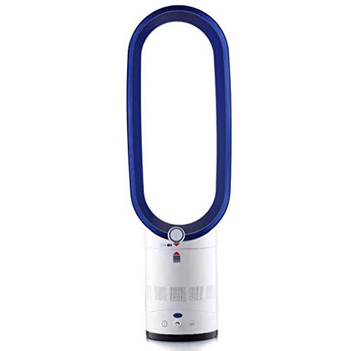 WW&C Ventilateur sans Lame, Filtre à air à ions négatifs, Ventilateur à Circulation oscillante à 90 ° avec télécommande et minuterie,Blue,16in