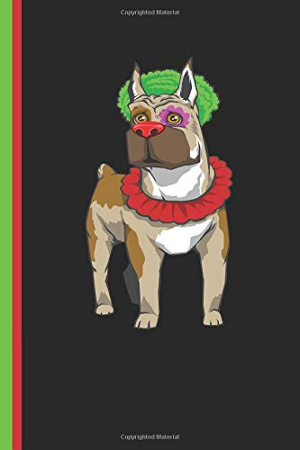 Boxer Dog Clown Journal: Boxer Breed Lined Notebook Diary, Study Book, Special Writing Workbook as a ()