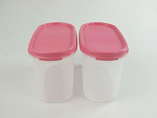 TUPPERWARE Eidgenossen 2 x 1,1 L pink Vorratsdose Dose Box