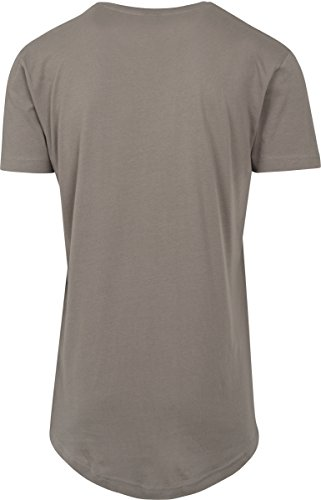 Urban Classics Herren T-Shirt Shaped Long Tee mit Rundhals Grün (Army Green 1144)
