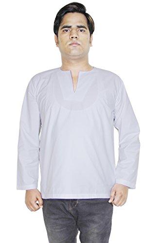 Vestito yoga breve kurta mens modo del cotone a maniche lunghe T-shirt-size xl