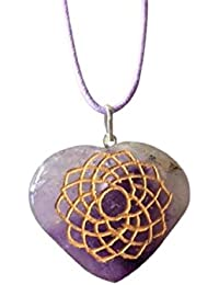 Piedras preciosas naturales artesanales de protección contra miedos, hechas a mano, forma de corazón