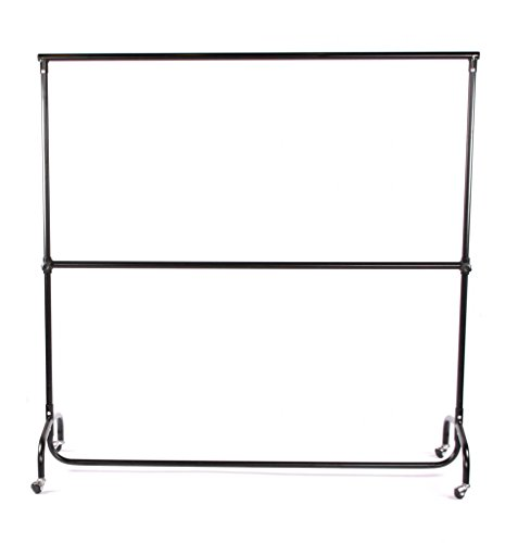First Fittings Heavy Duty Portable Clothes Rail And Centre Bar 5ft long 5ft high