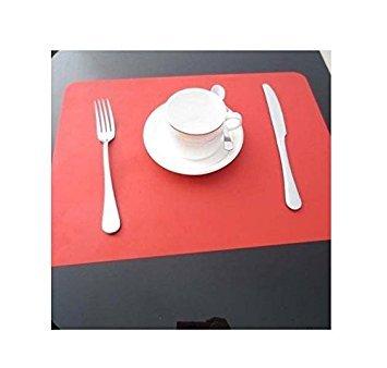 Honeysuck antidérapant étanche Isolation thermique en silicone Set de table Tapis de table de salle à