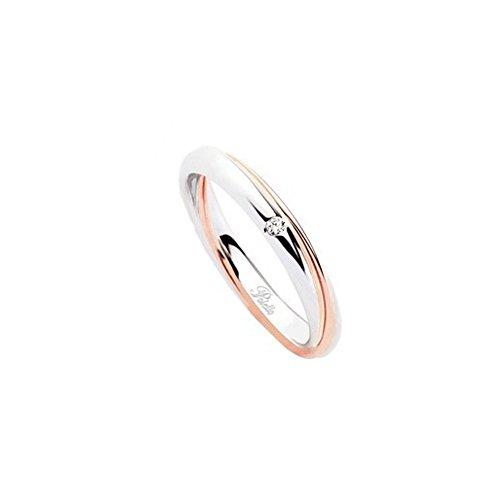 Fede Matrimoniale Polello Oro E Diamanti Kt.0.02